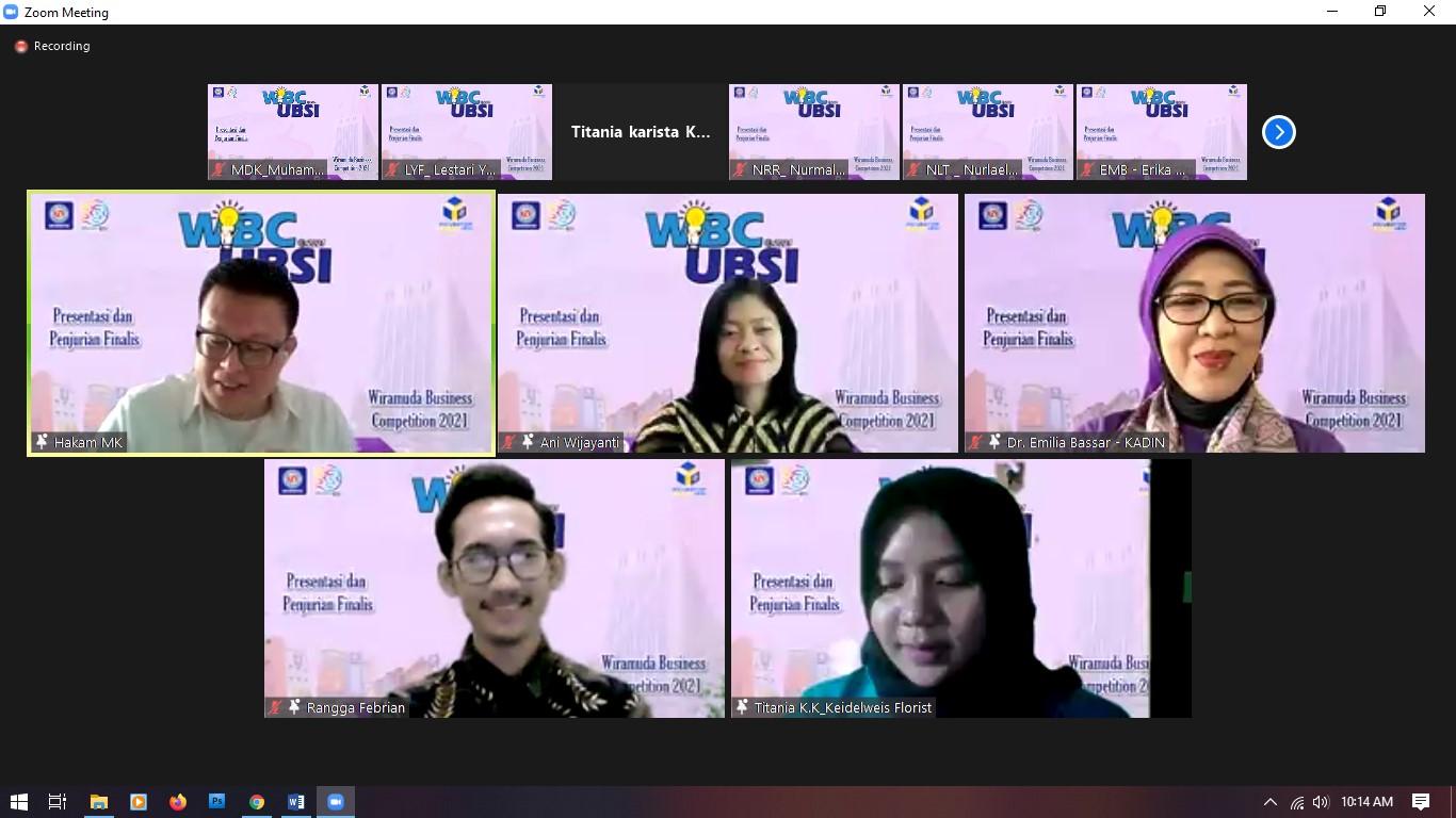 10 Finalis Presentasi dan Penjurian Wiramuda Business Competition 2021