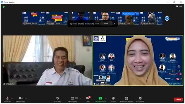 R.M. Tedy Aliudin Menjadi Pembicara Seminar Entrepreneur di UBSI